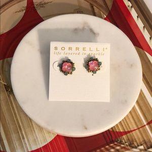 Sorrelli Coral Cluster Stud Earrings